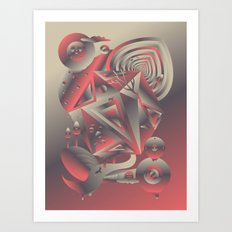 Geometromorphic Consciousness Art Print