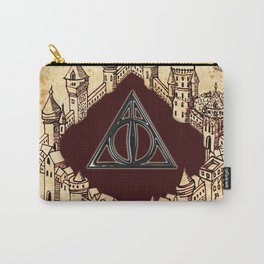 Deathly Hallows With The Marauders Map Carry-All Pouch