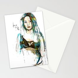 Lucy Black Eyes Stationery Cards