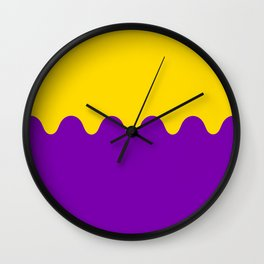 Wavy Intersexual Colors Wall Clock