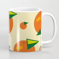 orange pattern Mugs featuring orange pattern by Avrora-slip