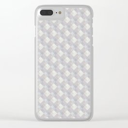 Light purple rhombuses. Clear iPhone Case