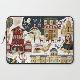 Paris map Laptop Sleeve