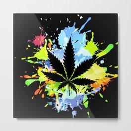 marijuana  canabis Metal Print
