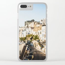 Afternoon in a white city Clear iPhone Case