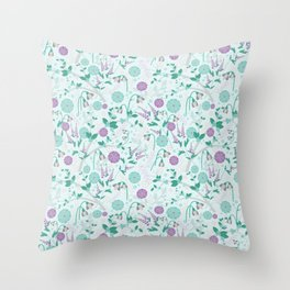 Winterberry Blues Throw Pillow