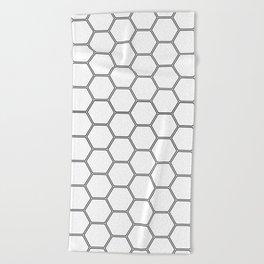 Honeycomb Black #378 Beach Towel