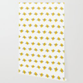 Be Safe - Save Bees linocut Wallpaper