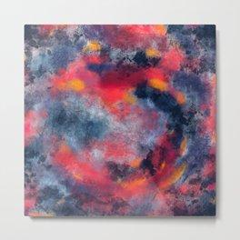 Abstract Texture Digital Painting Metal Print