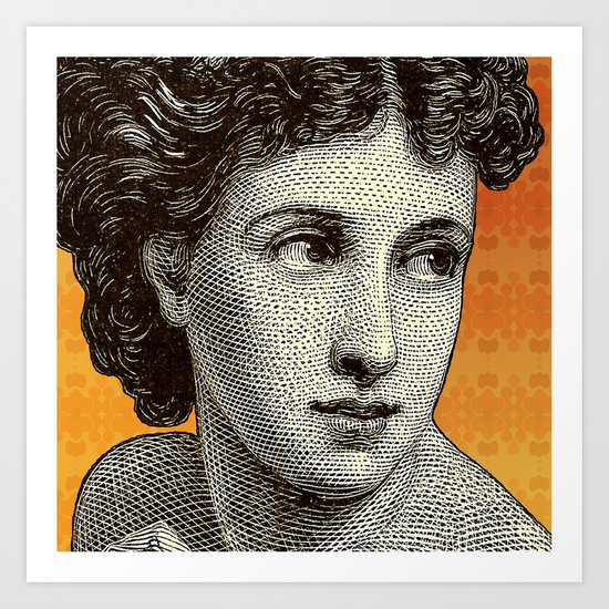 Seductress Orange Art Print