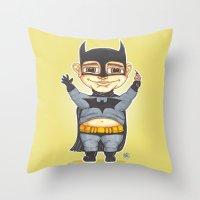 bats Throw Pillows featuring Bats by Shiny Superhero