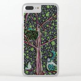 Forest Springtime Birds Clear iPhone Case