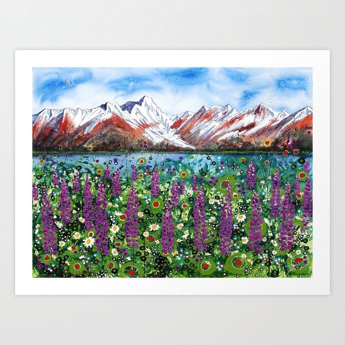 Carpathian in Lupine Art Print