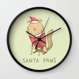 Santa Paws Wall Clock