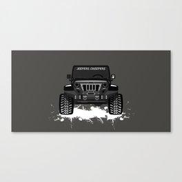 Black Grumper Canvas Print