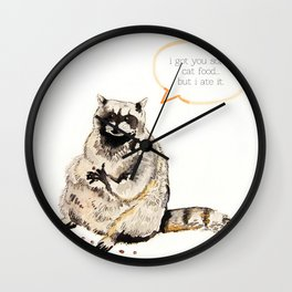 Raccoons Are Poor Gifters Wall Clock