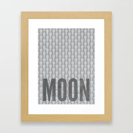 Moon Minimalist Poster Framed Art Print