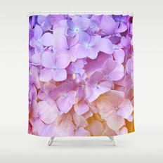 Multicolor beautiful Hydrangea petals - Flowers - Buds - Blossoms Shower Curtain