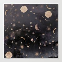 2015 Canvas Prints featuring Constellations  by Nikkistrange