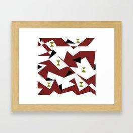 Geometrical tiles Framed Art Print