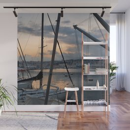 Nautical Sunset in Italy Wall Mural
