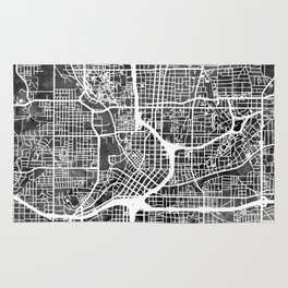 Atlanta Georgia City Map Rug