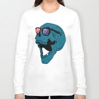rock n roll Long Sleeve T-shirts featuring Rock N' Roll Skull by Diseños Fofo