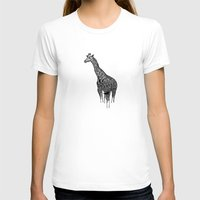 newspaper T-shirts featuring Newspaper Giraffe by Doolin