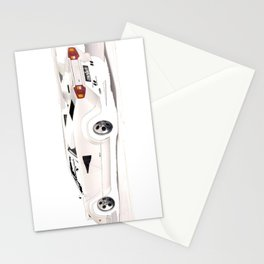 White Lamborghini Countach 1985 Stationery Cards
