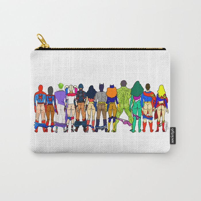 Superhero Butts - Power Couple Carry-All Pouch