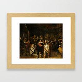De Nachtwacht Framed Art Print