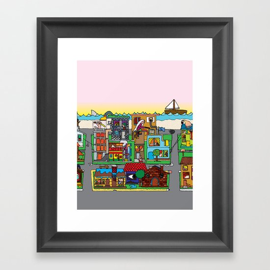 Good Magazine Neighborhoods Framed Art Print