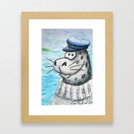 Skipper Seal Framed Art Print