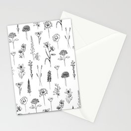 Patagonian wildflowers white Stationery Cards