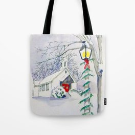 Christmas Church Tote Bag