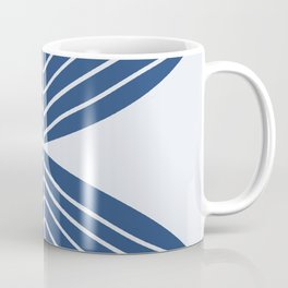 Minimal Icy Blue Winter Leaf Coffee Mug