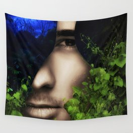 When He looked into Paradise - It was Midnight Fx  Wall Tapestry