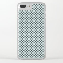 PPG Glidden Trending Colors of 2019 Night Watch PPG1145-7 Polka Dots on Cave Pearl Light Mint Green Clear iPhone Case