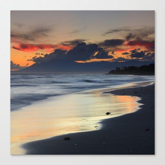 Magic red clouds. Sea dreams Canvas Print