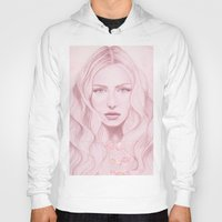 water colour Hoodies featuring Water Colour Girl by DeeDee Design