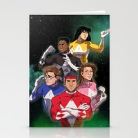 power rangers Stationery Cards featuring Mighty Morphin' Power Rangers by Ranger Danger