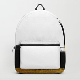 Black and Gold grunge stripes on clear white background - Stripe - Striped Backpack