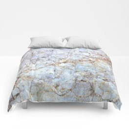 Rich Orange and Blue Marble Comforters