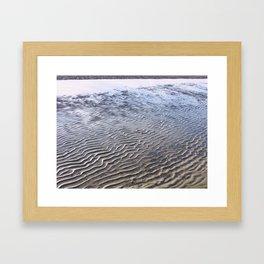 Waves in the Sand 03 Framed Art Print