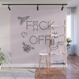 F*ck Off in Pink Wall Mural