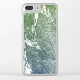 Whispering Leaves II Clear iPhone Case