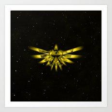 Zelda - Triforce Art Print