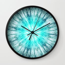 Teal Blue Mandala Wall Clock