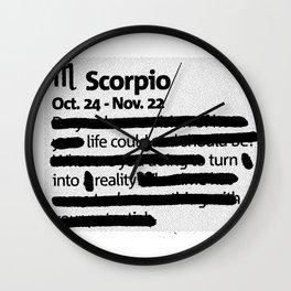 Scorpio 1 Wall Clock