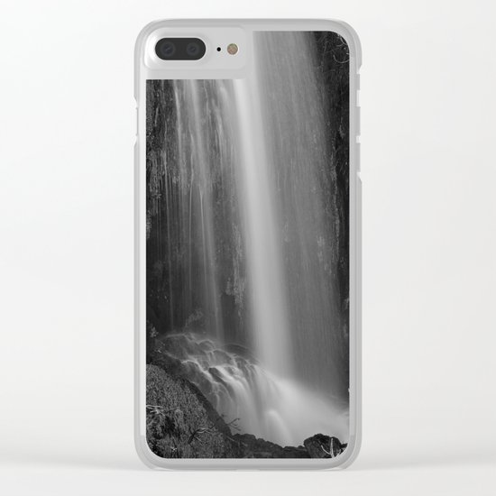 """Magic Waterfall"" BW Clear iPhone Case"